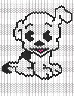 Pudgie Front View From Betty Boop bead pattern