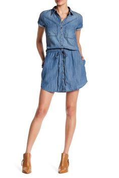 Short Sleeve Chambray Dress by Silver Jeans Co. on @nordstrom_rack