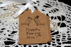 Wedding Favor Tags  Bridal Shower Gift Tags  by Booksonblocks, $3.95