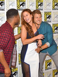 Comic-Con 2015: Celebs make the rounds, Day 1 | Jocko Sims, Rhona Mitra, and Travis Van Winkle | EW.com