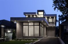 Modern Urban Single Family Residence, 360 Winnett House by Altius Architecture - Home Design Inspiration Small House Images, Unique Small House Plans, Modern Small House Design, Small Modern Home, Modern House Plans, Modern Homes, Contemporary Homes, Small Houses, Contemporary Architecture