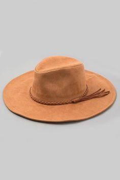 Faux suede hat - BLACK