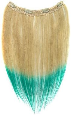 Tressecret Ombre Tail Dip-Dye Clip In Extension, 16 inches 18 inches, Blonde and Teal Blue by Tressecret. $26.90. Silicon based clip that will hold hair tight for activity. On-trend ombre 2-tone style. Can be safely curled and permed. 100% remy human hair. Tressecret ombre tail dip-dye hair extensions give volume, add thickness and highlighting effects to your hair. Made of 100% remy human hair, ombre tail can be safely curled and permed. The silicon based clip is easy to...
