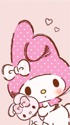 kitten and pink image