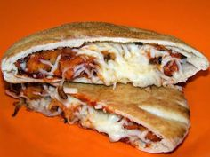 Campfire pizza pockets. Use pitas and toppings then wrap in foil and bake. SO EASY!