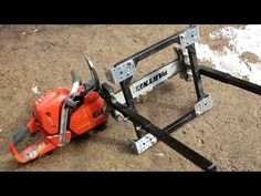 ALASKAN MKIII. Chainsaw Milling Attachment. Assembling and then Cutting Boards. - YouTube