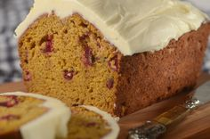 Pumpkin Cranberry Bread is a lovely honey colored quick bread, that is full of pumpkin puree, orange juice and zest, and chopped cranberries. From Joyofbaking.com With Demo Video