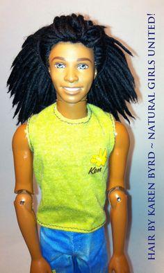 Rasta Ken! Male Loc's / Dreadlocks Dolls...  Available by custom order   http://www.naturalgirlsunited.com