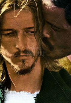 "Jesus Christ Superstar. Ted Neeley. Carl Anderson. ""Must you betray me, with a kiss?"""