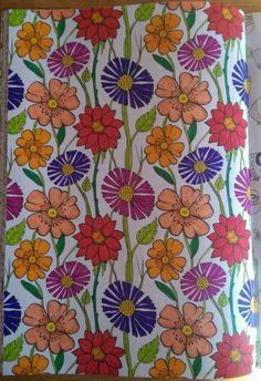 Kleuren voor volwassenen. Uit het dikke roze action boek. Gemaakt door Elwin Oudewaal