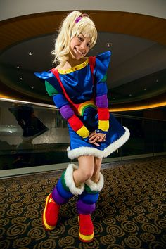 halloween Adult brite rainbow costume
