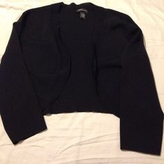 Black dressy crop cardigan This all black crop cardigan was made to go with a cocktail dress or cute dressy top for a night out or special event. In great condition. Spense Sweaters Cardigans