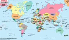 Map of countries of the world