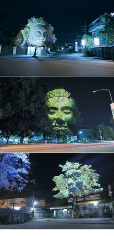 Clement Briend's public projection series