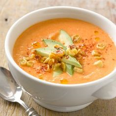 Roasted Corn Soup with Tomato from Sussman Brother's: This Is A Cookbook | Williams-Sonoma