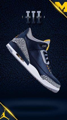 127d14439719 Air Jordan 3 Michigan PE Player Exclusive - Sneaker Bar Detroit