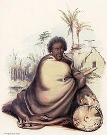 Pōtatau Te Wherowhero, before 1847, wrapped in a blanket