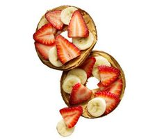 Bagel Thin Topped with Peanut Butter and Fruit http://www.rodalewellness.com/food/healthy-breakfast-recipes?slide=14