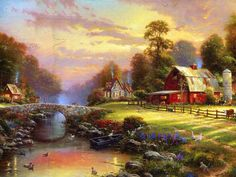 Thomas Kinkade, I wish he had painted more farms. He will be missed!