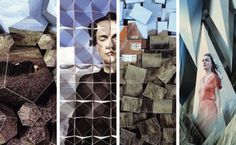 A pretty print ad campaign for Polish designer Ania Kuczynska 2009 Summer Collection imagined by Szymon Roginski and Kasia Korzeniecka.     The campaign is about photographing a picture made of fragmented 3D pictures.