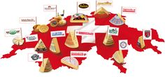 Fromages de Suisse - Le petit pays des grands fromages,  Swiss cheese