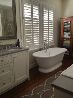 Custom Shutters made locally available from the best designers Interior Wood Shutters, Custom Shutters, Clawfoot Bathtub, Cool Designs, Custom Blinds