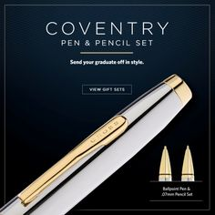 Pinterest Pin - For a milestone like graduation, only a Cross Coventry Gift Set will do.