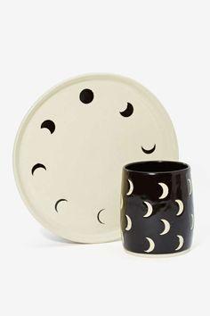 Small Spells Moon Phase Handmade Plate - All | Design Lover | Festive Fiend | Gift | Kitchen + Bar