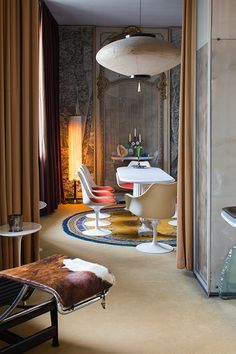 The home of Italian designer Carlo Mollino#interiordesign