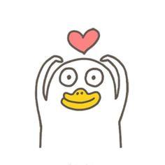 Cute Cartoon Characters, Cartoon Memes, Cartoon Art, Kawaii Doodles, Cute Doodles, Funny Duck, Animal Doodles, Cute Love Memes, Memes Funny Faces