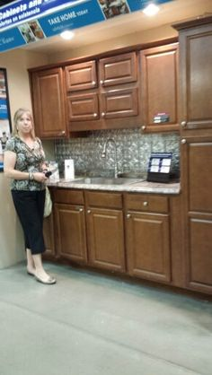 Pam Models the Cheyenne cabinetry which our Fav
