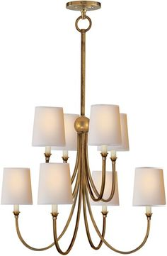Visual Comfort Large Reed Chandelier, Chandelier | Neena's Lighting