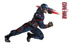 'Captain America: Civil War' (2016) High Resolution Character Art - 'Captain America'