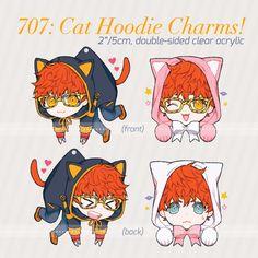 cosmolade - [PRE-ORDER] 707: Cat Hoodie Charms!