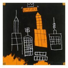 オールポスターズの ジャン=ミシェル・バスキア「Mecca, 1982,」ジクレープリント