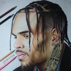 Ok but this is so detailed 😍🔥 Chris Brown Art, Chris Brown Outfits, Cool Sketches, Dope Art, Black Magic, To My Future Husband, Black Art, Halloween Face Makeup, Drawings