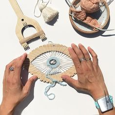Our friends at know our Maker's Keep is useful for all sorts of crafts - not just knitting! Also, could this eye loom be any cooler? (Answer: no). Teneriffe, Slap Bracelets, Nails And Screws, Color Ring, Stitch Markers, Hand Fan, New Product, Knitting, Loom