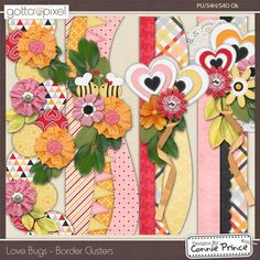 Love Bugs - Border Clusters