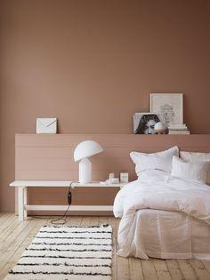 nude bedroom, pink