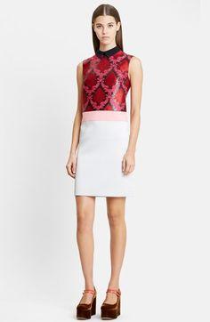 Mary Katrantzou Sleeveless Damask Jacquard Sheath Dress available at #Nordstrom