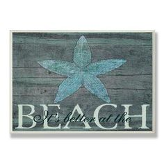 It's Better at the Beach Starfish Wall Plaque | Overstock.com Shopping - Great Deals on Accent Pieces