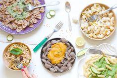 Réaliser des sauces pour les pâtes légères, équilibrées, bio, végétaliennes (vegan), saines & gourmandes qui soient rapide (moins de 15 minutes). 1 superbe article à dévorer @ Chaudron Pastel