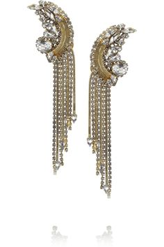 Editor's Pick: Erickson Beamon Bette gold-plated crystal earrings  - http://africanluxurymag.com/editors-pick-erickson-beamon-bette-gold-plated-crystal-earrings/
