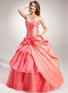 Quinceanera Dresses - $221.99 - Ball-Gown Sweetheart Floor-Length Taffeta Organza Quinceanera Dress With Embroidered Ruffle Beading Flower(s) (021004684) http://amormoda.com/Ball-gown-Sweetheart-Floor-length-Taffeta-Organza-Quinceanera-Dress-With-Embroidered-Ruffle-Beading-Flower-S-021004684-g4684