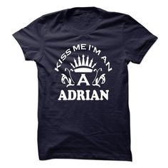 Kiss me Im An ADRIAN!!! - #gift amor #bridal gift. CHECK PRICE => https://www.sunfrog.com/Names/Kiss-me-Im-An-ADRIAN.html?68278