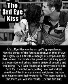 kissing forehead third eye | The 3rd Eye Kiss
