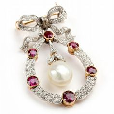 Edwardian Platinum Topped Gold, Ruby, Diamond, and - by Leland Little Auctions