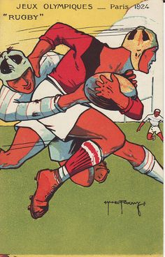 Rugby Poster 1924 for the Olympics - USA 2 time defending Gold Medal Medal winners Rugby Sport, Rugby Men, Rugby League, Rugby Players, Rugby Images, Rugby Poster, Fifa, All Blacks, Sports Art