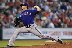 Texas Rangers starting pitcher Martin Perez pitches against the Houston Astros during the ninth inning at Minute Maid Park. The Rangers won 6-1.