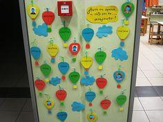 Νηπιαγωγός για πάντα   Παρουσιολόγιο: Αερόστατα Create Your Own Website, Class Decoration, Back To School, Calendar, Frame, Picture Frame, Frames, First Day Of School, Entering School